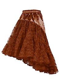 Petticoat mit Schleppe braun