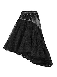 Petticoat mit Schleppe schwarz