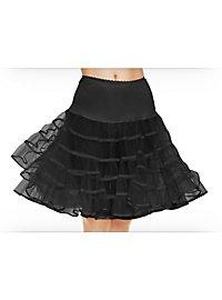 Petticoat mittellang schwarz