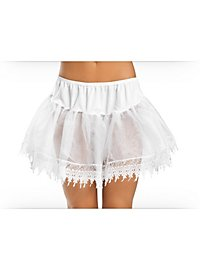 Petticoat, Short and White with Trim