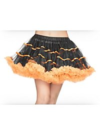 Petticoat short black & orange