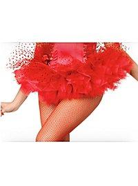 Petticoat Tüll rot gepunktet