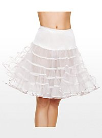 Petticoat weiss mittellang