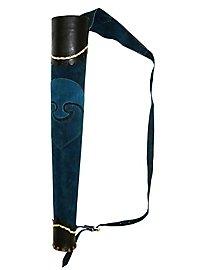 Köcher - Bogenschütze blau-schwarz