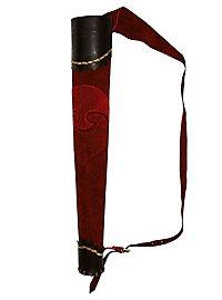 Köcher - Bogenschütze rot-schwarz
