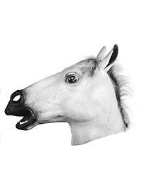Pferdemaske weiß Vollansicht