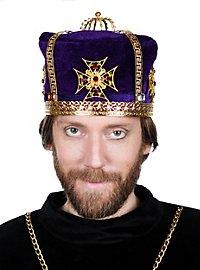Calotte de couronne en tissu violette