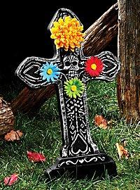 Pierre tombale Día de los Muertos cœurs