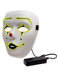 Pierrot luminous mask with battery compartment