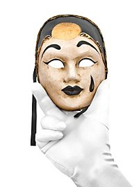 Pierrot medio bianco nero Masque vénitien miniature