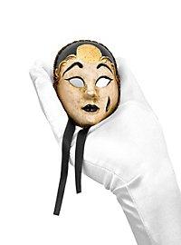 Pierrot mini bianco nero Venezianische Miniaturmaske