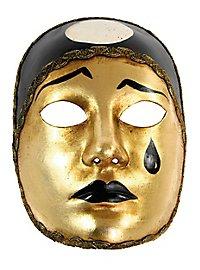 Pierrot normale oro - Venezianische Maske
