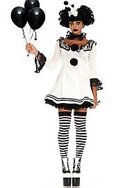Pierrot Rüschenkleid Kostüm