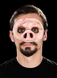 Piggy Halbmaske aus Latex