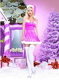 Pink Santa Velvet Mini Dress