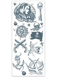 Pirat Klebe-Tattoo Set