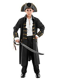 Pirat schwarz Kinderkostüm