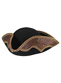 Pirate hat black-brown