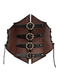 Pirate Queen Leather  Corset brown
