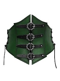 Pirate Queen Leather  Corset green