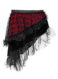Pirate skirt red-black