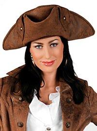 Piraten Dreispitz braun