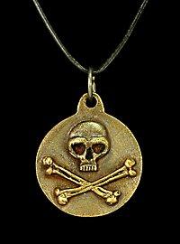 Piraten Totenkopf Medaillon
