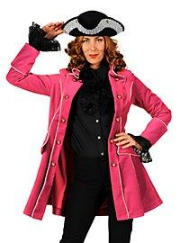Piratenmantel aus Samt rosa