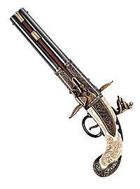 Pistol with Revolving Double Barrel Replica Weapon