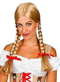 plait wig blond