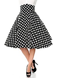 Plate skirt black-white