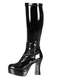 Plateau Stiefel mit Reißverschluss schwarz
