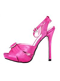Platform Sandals with Ankle Strap hot pink
