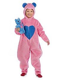 Plüschkostüm Flauschiger Bär pink Kinderkostüm