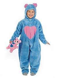 Plush costume fluffy bear blue children costume
