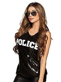 Police Glitter Top