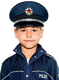 Police hat for children blue