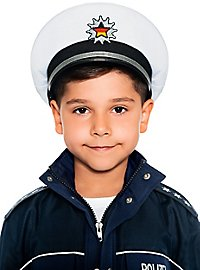 Police hat for children white