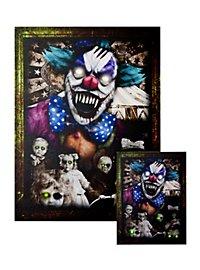 Portrait lumineux «clown d'horreur» petit