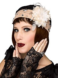 Pot Hat & Gloves black-beige