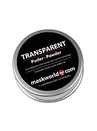 Poudre à maquillage transparente