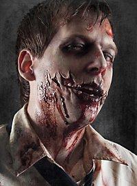 Prothèse en latex blessure de zombie