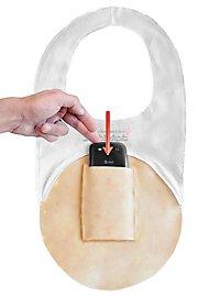 Prothèse en latex fermeture éclair Digital Dudz