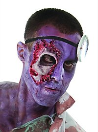 Prothèse en latex zone oculaire de zombie The Walking Dead
