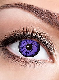 Purple Witch contact lens with diopters