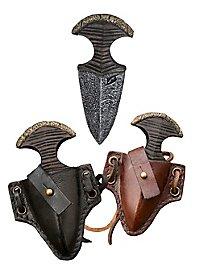 Push dagger avec étui en cuir- Iron Fortress