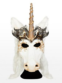 Queen of the Unicorns Leather Half Mask