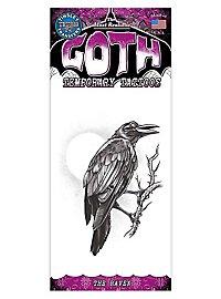Rabe Gothic Klebe-Tattoo