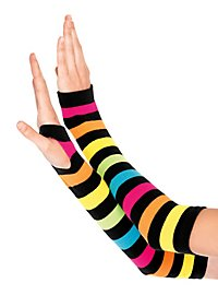 Rainbow Arm Warmers neon