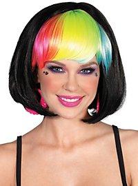Rainbow Bob Wig black